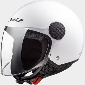 LS2 OF558 Sphere White Jet Open Face Helmet
