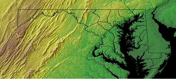 Backbone Mountain Maryland Map