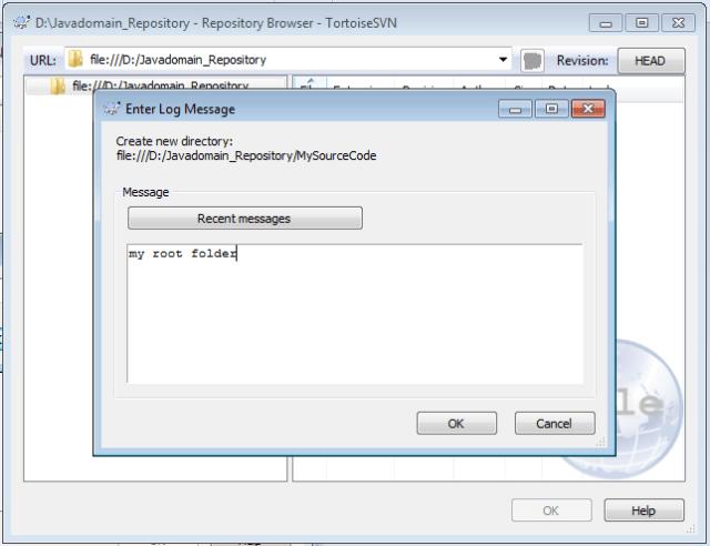 create a repository using tortoiseSVN