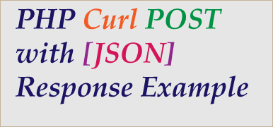 curl post php example with json response