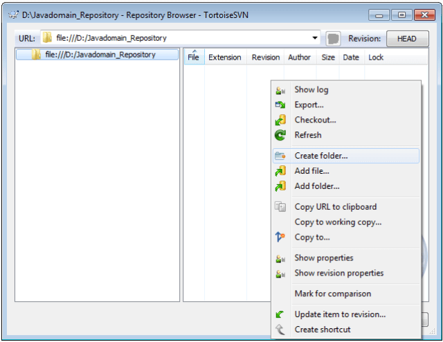 Creating a SVN Repository using TortoiseSVN step by step explained