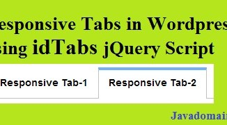 Responsive tabs in wordpress using idTabs