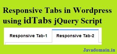 Responsive tabs in wordpress using idTabs