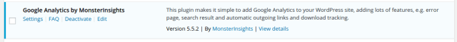 Google Analytics using Google Analytics MonsterInsights