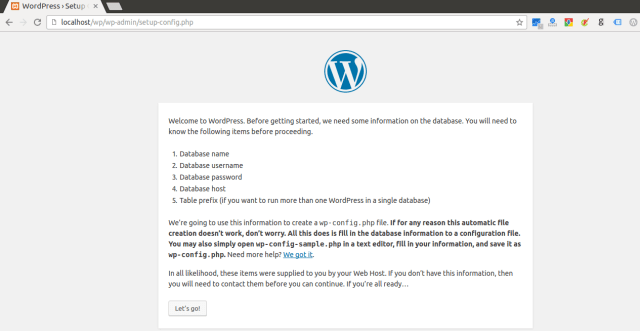Installing wordpress in Ubuntu step by step