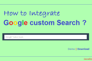 How to integrate google custom search to your website?