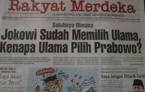 Jokowi sudah Memilih Maruf Amin, Tapi Mengapa Ijtimak Ulama II Dukung Prabowo?