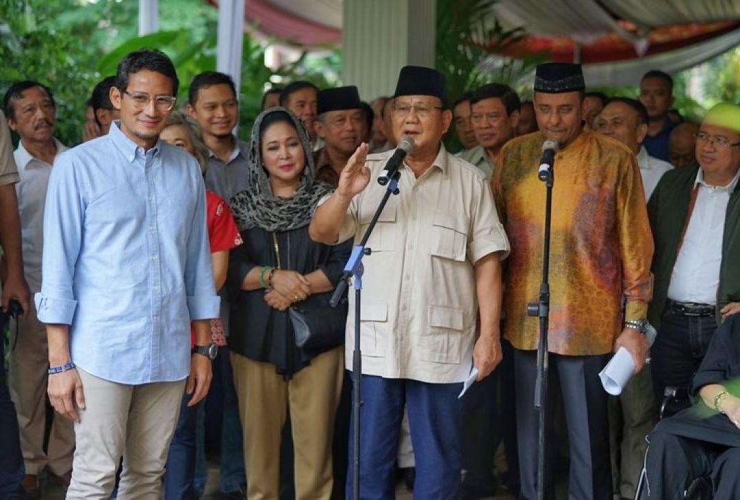 Prabowo Sebut Pengumuman KPU Senyap-senyap di Saat Orang Masih Tidur