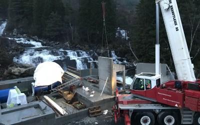 Veggmontasje og inspeksjon på Sigdestad