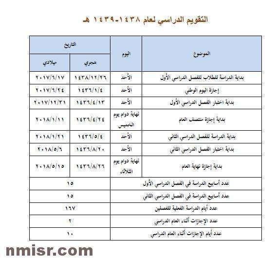 أجازات السعودية 2017 2018 موعد أجازة الربيع واختبارات منتصف