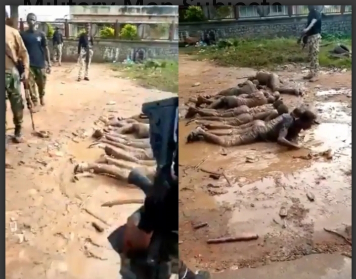 Military Men Subjects Curfew Violators To Severe Punishment In Ilesha, Osun State (Video)