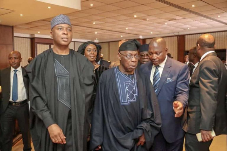 Saraki and Obasanjo x