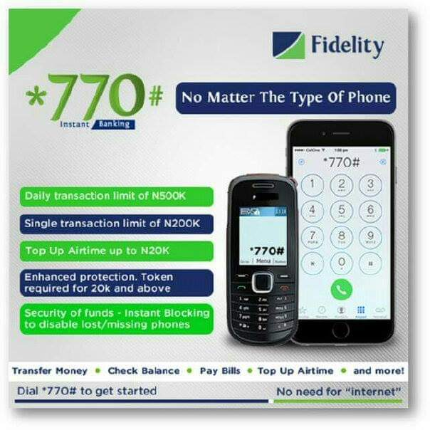Fidelity Bank USSD Codes