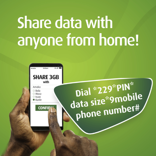 9Mobile data share mobile banner