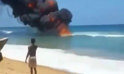 Fire outbreak at Ilashe beach