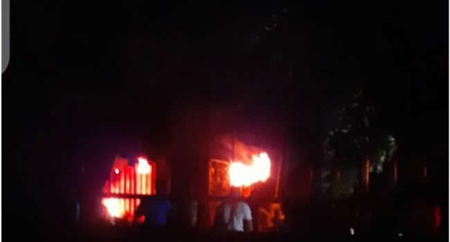 Inec office on fire