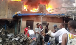 Ladipo Spare Part Market Fire