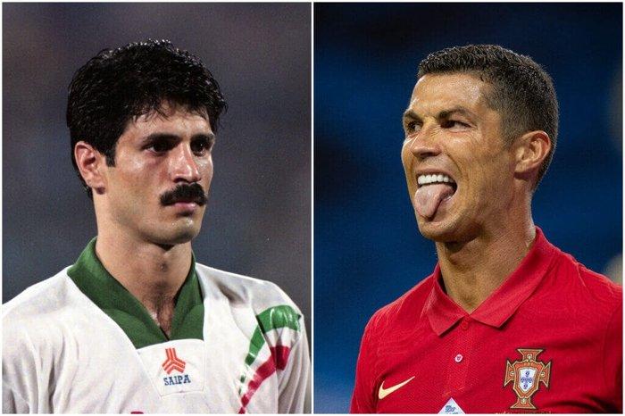 Ali Daei and Cristiano Ronaldo