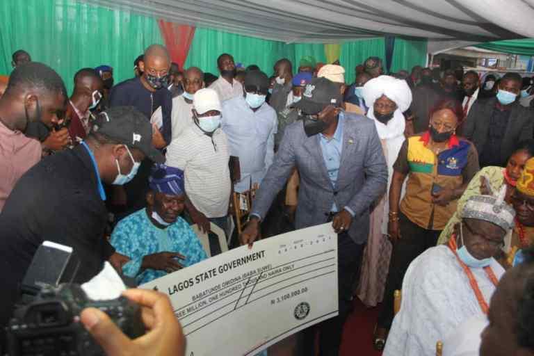Baba Suwe and Sanwo Olu