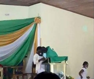Video of Reverend Father giving female students holy kiss