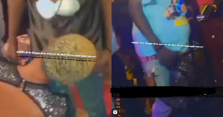 Lady apologizes to her parents after video of her giving blowj b to men in a nightclub went viral videos