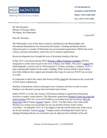 Letter to Dutch Minister of Foreign Affairs_2Jun2017-1