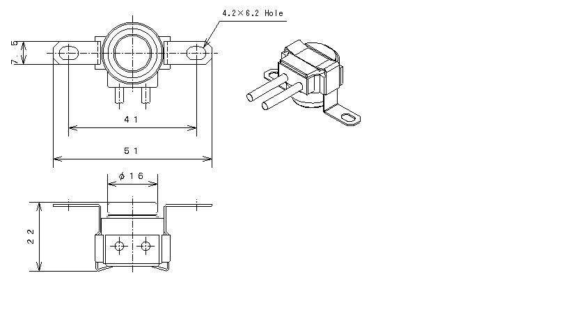 Type12 Phenol Case|バイメタルサーモスタットの日本GT株式会社