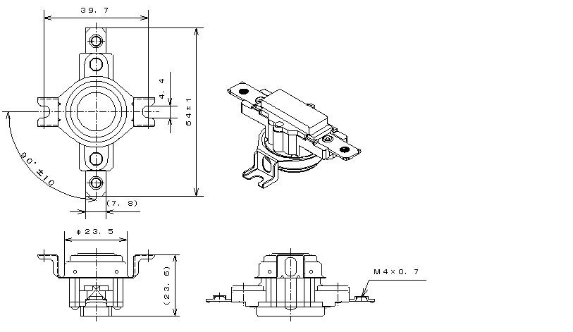 Type43 Phenol Case|バイメタルサーモスタットの日本GT株式会社