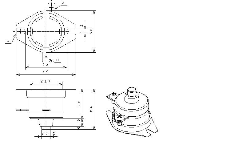 Type04P Phenol Case|バイメタルサーモスタットの日本GT株式会社