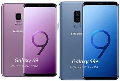 comparison between Samsung Galaxy S9 and Galaxy S9+