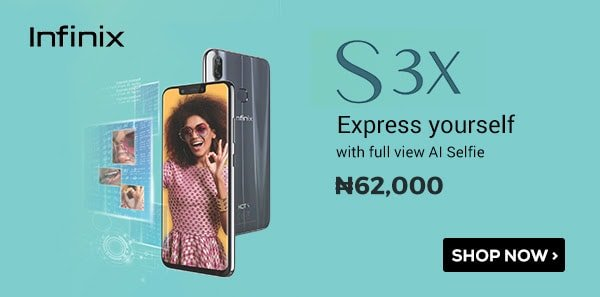 infinix S3X price and jumia price