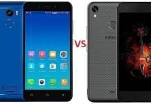 Gionee x1 VS Infinix Hot 5