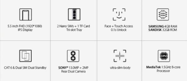Leagoo T8s key features