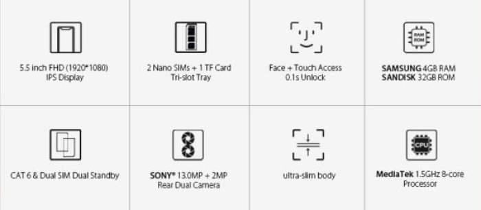 Leagoo T8s key features