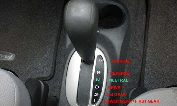 Vehicle automatic transmission gear selections
