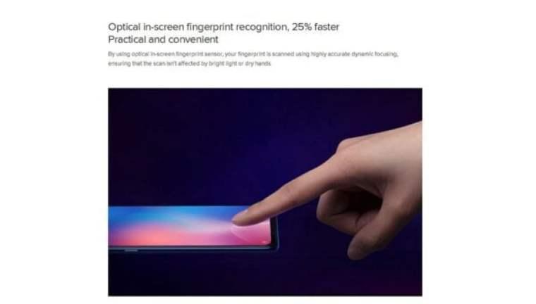 Xiaomi Mi 9 4G with in-display fingerprint sensor