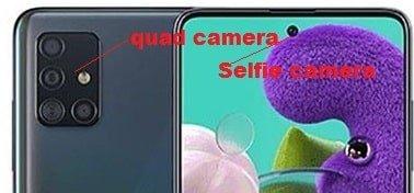 Quad rear camera A51