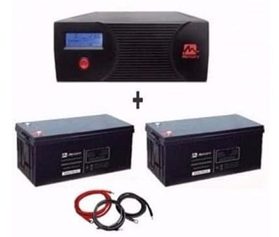 Mercury 2.4KVA Inverter & 2 200ah Batteries Bundle