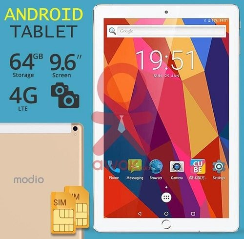 Modio M96 Tablet price and features