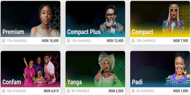DStv Yanga Channels packages and subscription price