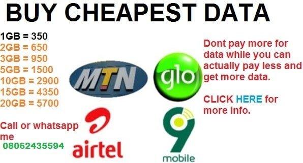 Cheapest data plan on MTN, Airtel SME Data 2021 Reloaded