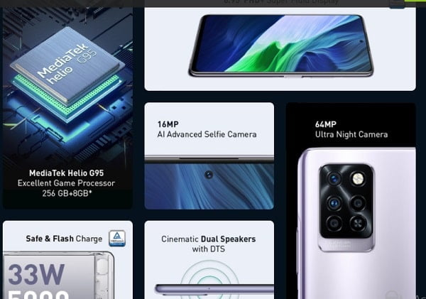 Infinix Note 10 Pro Key features