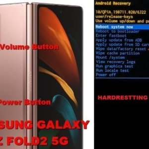 Samsung galaxy Z Fold 2 soft and hard resting guide