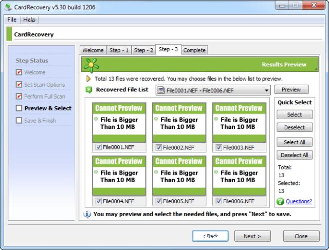 Phục hồi dữ liệu từ thẻ nhớ sử dụng CardRecovery