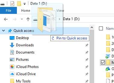 Thêm thư mục thường dùng vào mục Quick access hay Favorites trong Windows Explorer