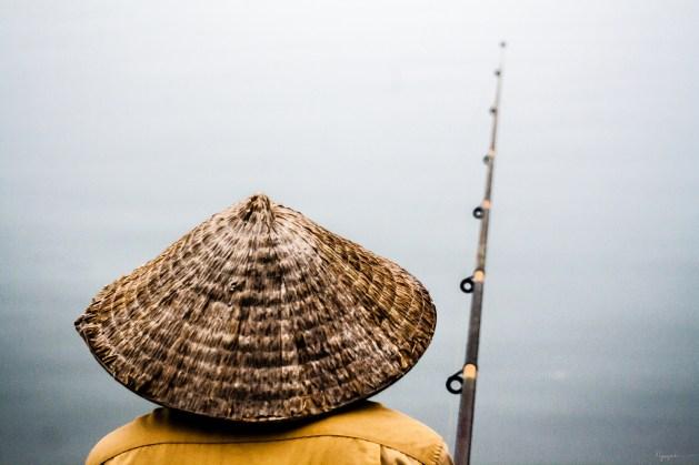 fishing at Hồ Tây, Hà Nội, Việt Nam
