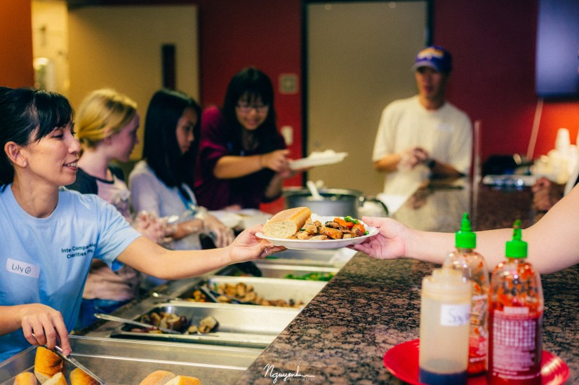 Caring for a meal being served is a way of to show and pass on compassion.