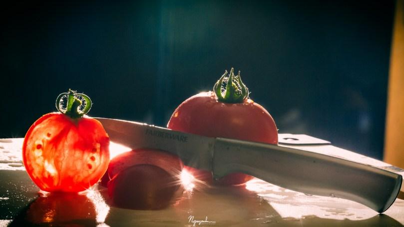 cut a tomato