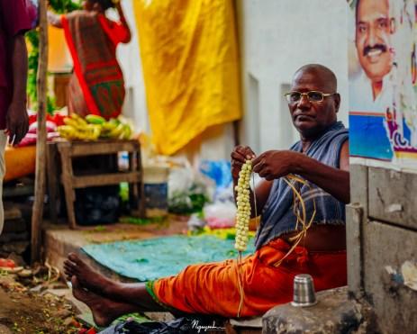 Making Indian garland