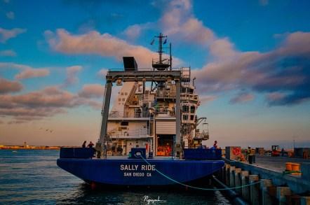 R/V Sally Ride docked at Nimitz Marine Facility